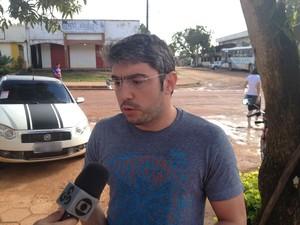 Paulo Furlan, promotor destacado pelo MP-AP para vistoriar acidente (Foto: John Pacheco/G1)