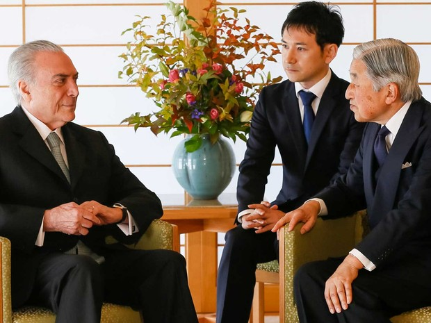Presidente Michel Temer durante encontro com o imperador Akihito (Foto: Beto Barata / Presidência da República)