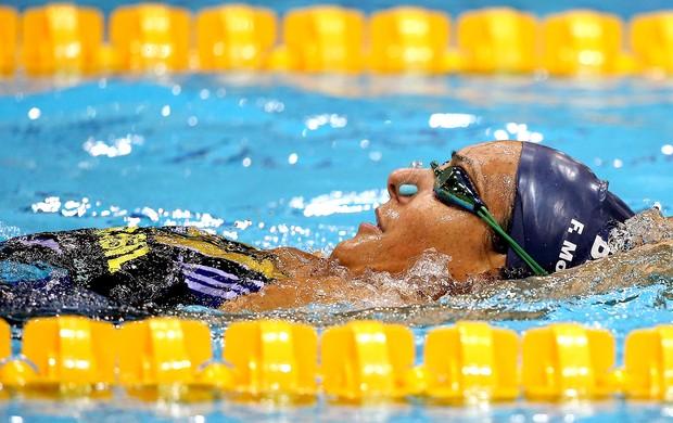 Fabiola Molina no treino na natação em Londres (Foto: Satiro Sodré / Agif)