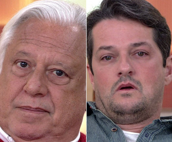 Antonio Fagundes e Marcelo Serrado no 'Encontro' (Foto: TV Globo)