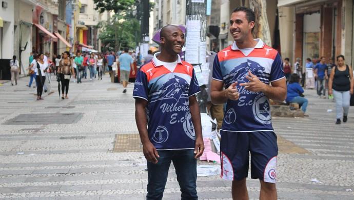 Portella e Wagner em São Paulo (Foto: Larissa Vieira)