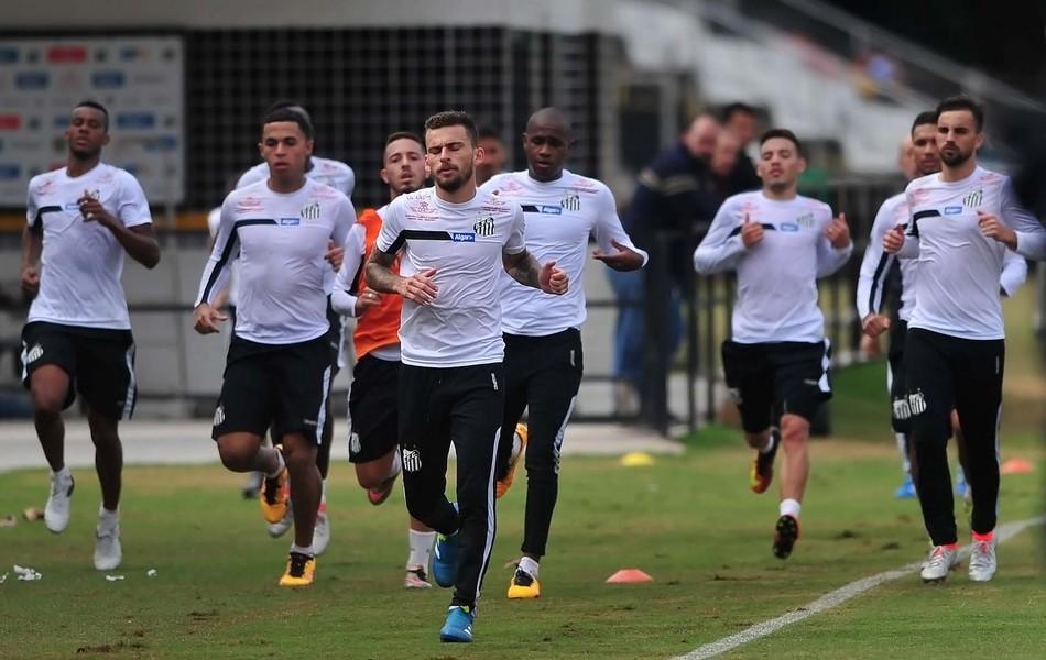 Lucas Lima, treino do Santos