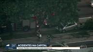Acidentes deixam feridos e provocam transtornos na capital