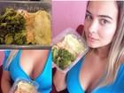 Geisy Arruda mostra decote e barriga sequinha em selfie com marmita light