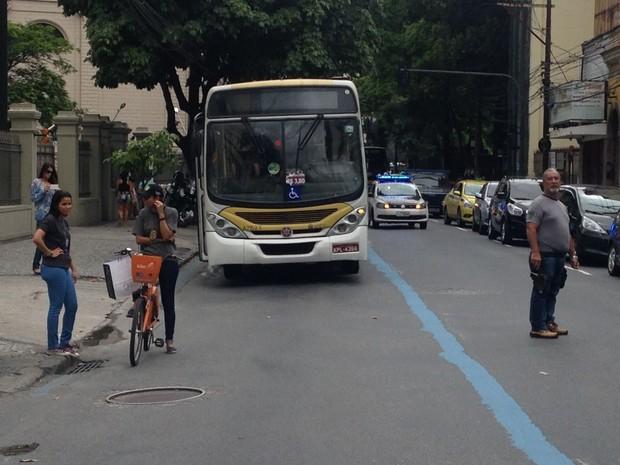 Polícia faz reconstituição da morte de ciclista na Zona Sul do Rio (Foto: Guilherme Peixoto/ TV Globo)