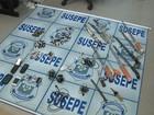 Pente-fino em prisão revela celulares em rede de esgoto em Uruguaiana, RS