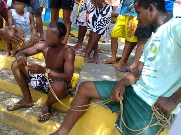 Prisão na Bahia (Foto: Jackson Cristiano/ Ubaitaba Urgente)