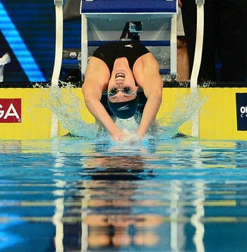 seletiva americana da natação - Missy Franklin durante as semifinais dos 100m costas  (Foto: Jeff Curry / Getty Images)
