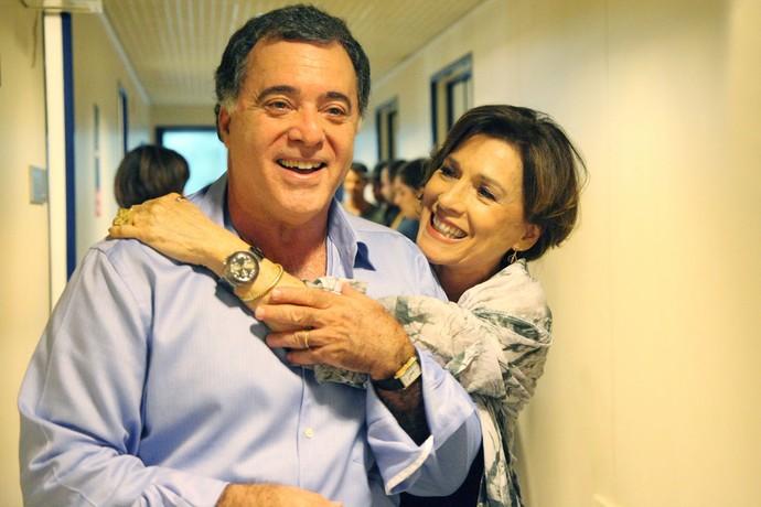 A atriz também é amiga de Tony Ramos, os dois estiveram juntos no elenco de novelas como 'Torre de Babel', 'A próxima vítima' e 'Mulheres apaixonadas' (Foto: Carol Caminha/Gshow)