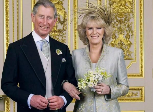 Príncipe Charles e a Duquesa Camilla quando se casaram, em 2005 (Foto: Getty Images)