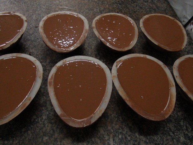 Ovos de chocolate (Foto: Ruan Melo/ G1)