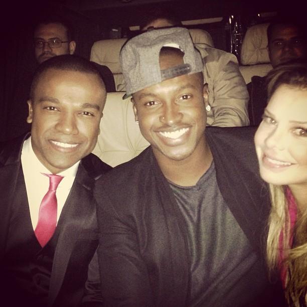 Alexandre Pires, Thiaguinho e Fernanda Souza (Foto: Instagram/ Reprodução)