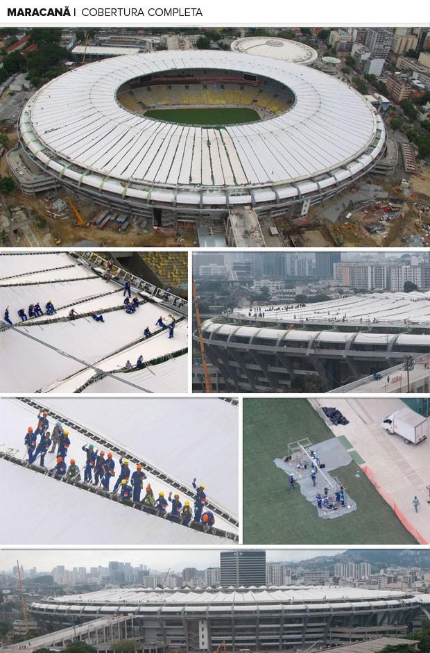 MOSAICO cobertura estádio maracanã (Foto: Editoria de arte)