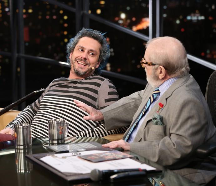 Jô Soares entrevista o ator Alexandre Nero no 'Programa do Jô' (Foto: Carol Caminha/Gshow)