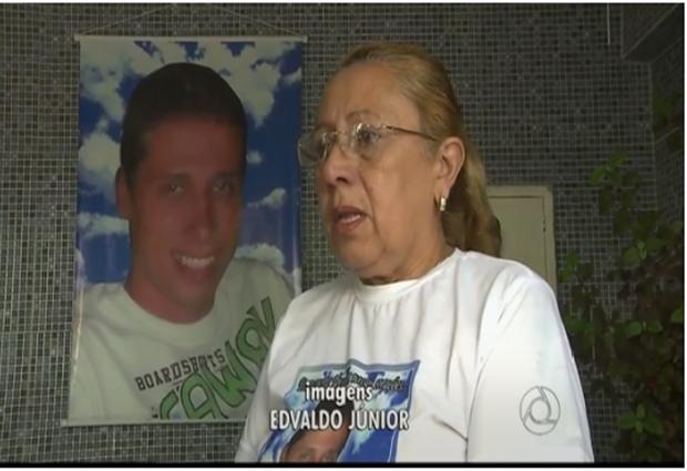 Mãe investigou assassino do filho nas redes sociais. Crime aconteceu em João Pessoa em 2013.  (Foto: Reprodução/TV Cabo Branco)