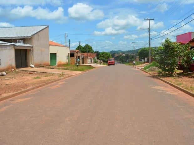 Rua Vinicíus de Morais, em Cacoal, foi recuperada (Foto: Magda Oliveira/G1)