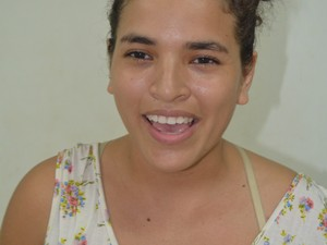 Ingrid Rayana Lima, de 23 anos, estudante de educação física (Foto: Jorge Abreu/G1)