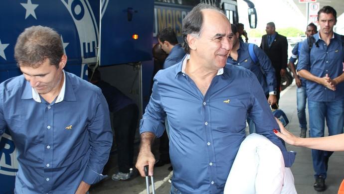 Embarque do Cruzeiro (Foto: Mauricio Paulucci)