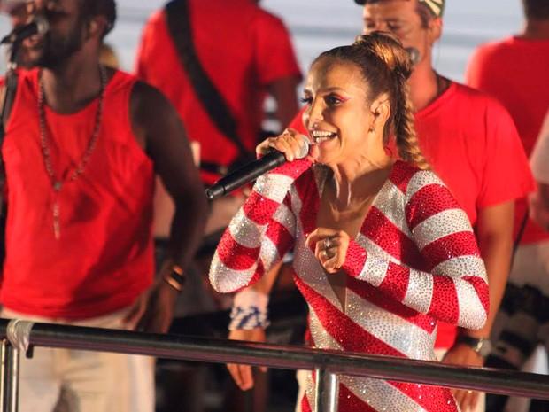 Ivete Sangalo em Ondina (Foto: Alan Tiago Alves/G1)