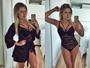 Renatinha posa sensual em selfies de lingerie