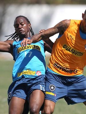 Andrezinho no treino do Botafogo (Foto: Jorge William / Ag. O Globo)
