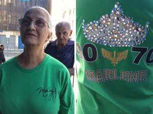 Dalva Darc Lopes da Silva é fã de Marlene há mais de 50 anos (Foto: Guilherme Brito/G1)
