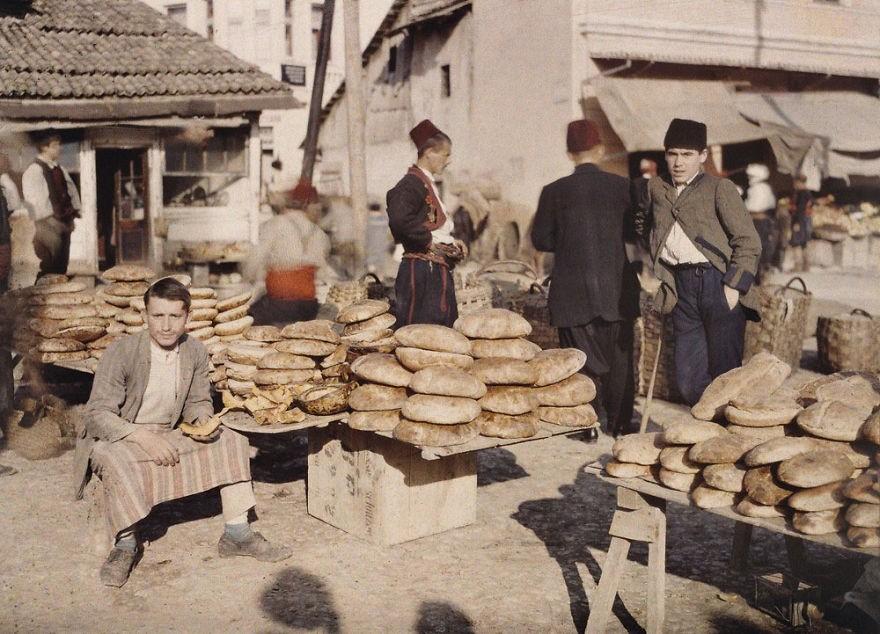 Mercado de Saravejo em 1912 (FOTO: REPRODUÇÃO)
