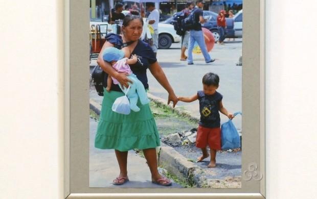 Cotidiano da mulher roraimense foi registrado por fotógrafos (Foto: Bom Dia Amazônia)