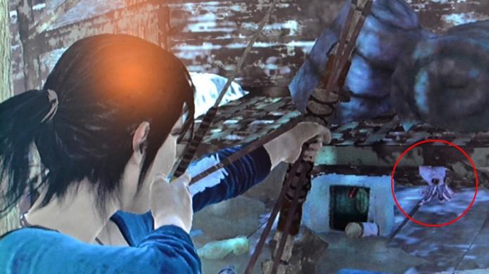 Simpático polvo Underpuss aparece novamente em Rise of the Tomb Raider (Foto: Reprodução/WikiRaider)