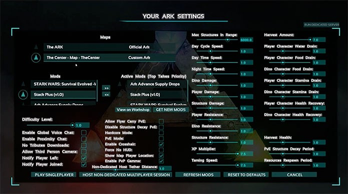Non dedicated server ark tether distance
