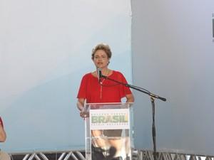 Presidente Dilma Rousseff (Foto: Inaê Brandão/G1 RR)