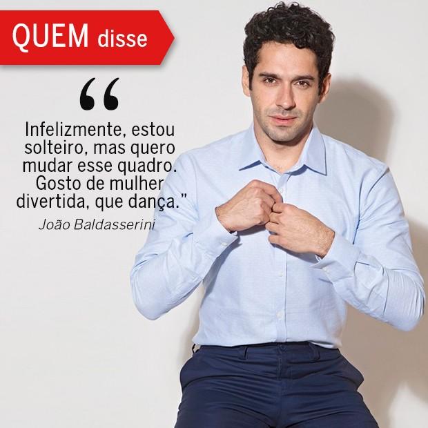 QUEM Disse: João Baldasserini (Foto: Reprodução/ Revista QUEM)