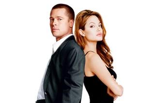 Angelina Jolie e Brad Pitt em Sr. & Sra. Smith, filme de 2005 (Foto: Reprodução)