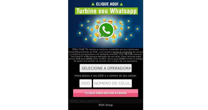 O malware leva os usuários a se inscreverem em serviços de SMS pagos (Foto: Reprodução/ESET)