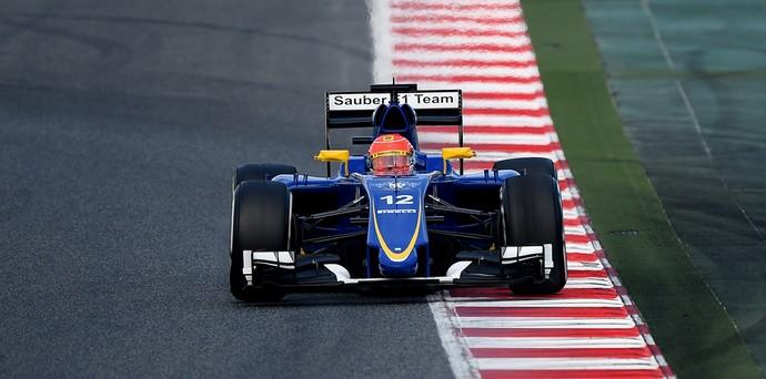 Felipe Nasr Sauber Barcelona dia 2 sexta-feira rodada 2 (Foto: Getty Images)