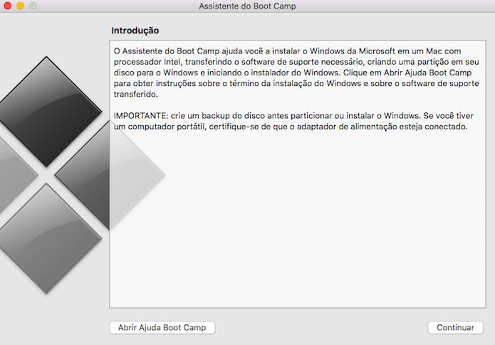 Introdução do utilitário de instalação do Windows (Foto: Reprodução/Helito Bijora)