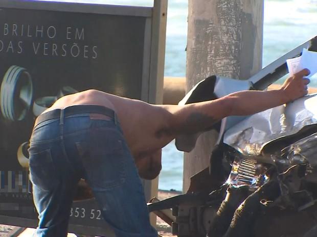 Acidente deixa trânsito lento na Pituba na manhã desta sexta-feira (Foto: Reprodução/TV Bahia)