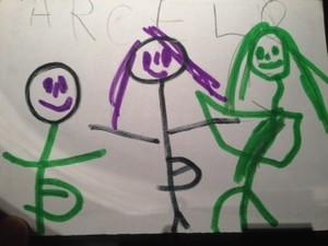 Desenho do filho da Ivete Sangalo  (Foto: Arquivo pessoal)