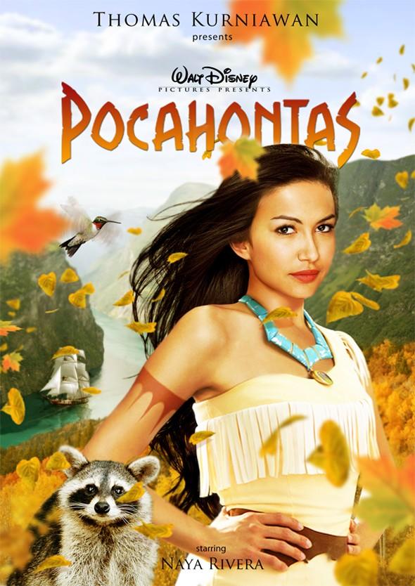 Naya Rivera como Pocahontas (Foto: Thomas Kurniawan)