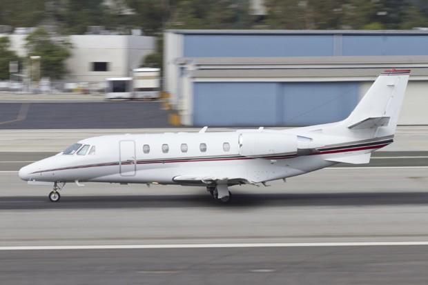 Um jato Cessna, Semelhante Ao Fazer Acidente com O Marido da empresária: morte foi Prevista Por uma cigana (Foto: Pense Estoque)
