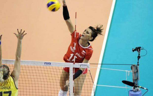 Grand Prix de Volei - Brasil x Polonia, Skowronska (Foto: FIVB)