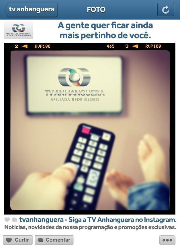 Instagram da TV Anhanguera (Foto: Divulgação)