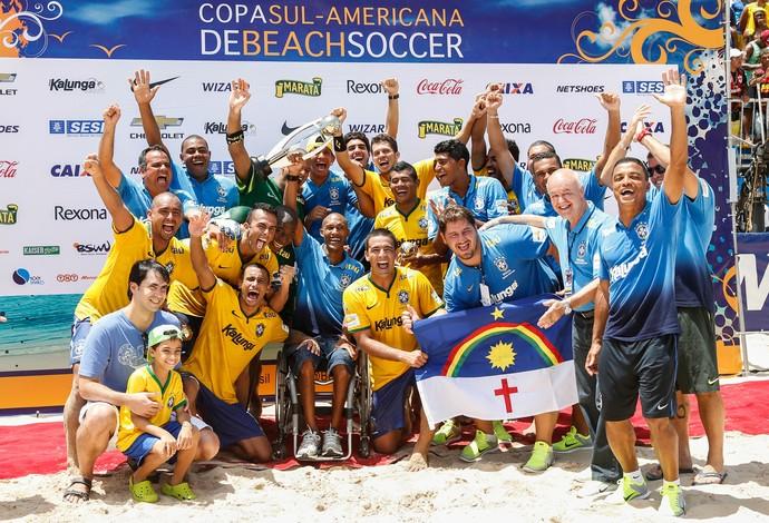 brasil x paraguai futebol de areia (Foto: Divulgação/Marcello Zambrana)