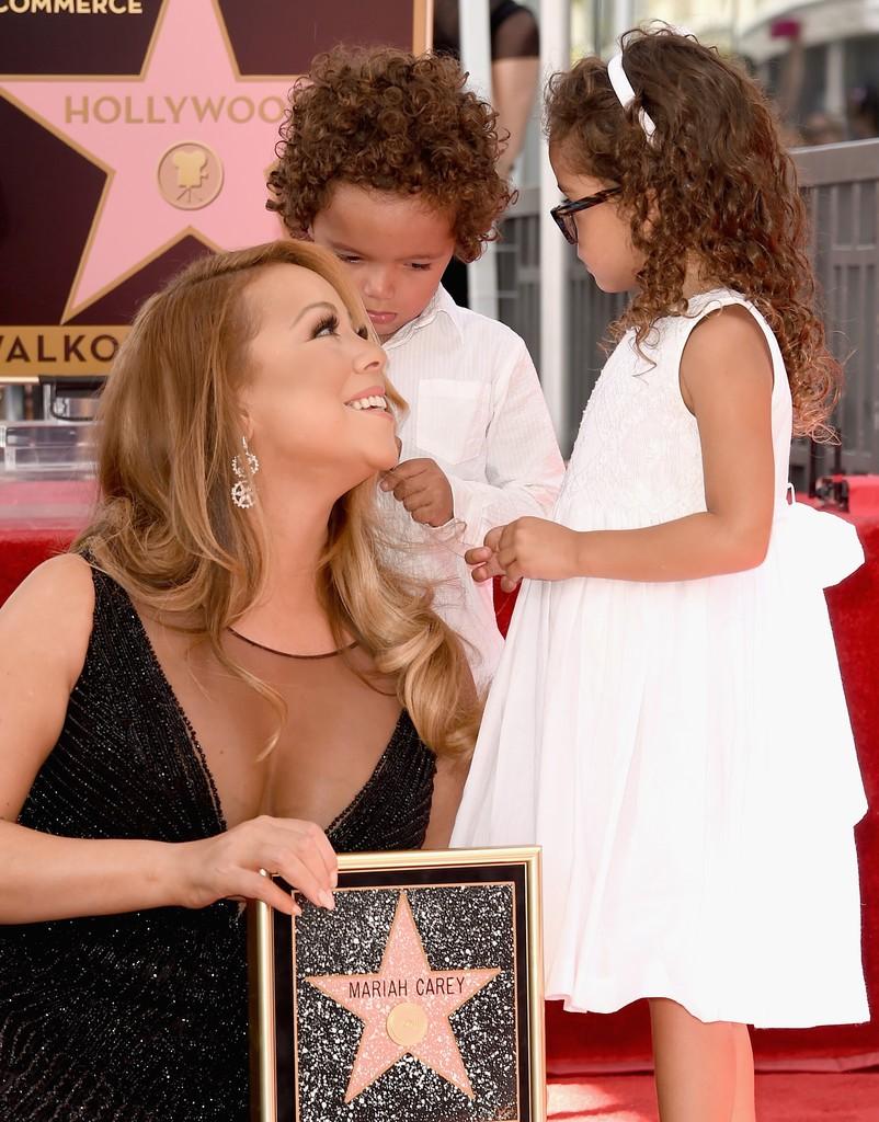 Mariah Carey e seus filhos Morrocan e Monroe (Foto: Divulgação)