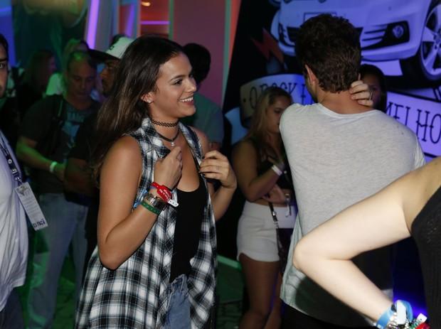Mauricio Destri e Bruna Marquezine no Rock in Rio (Foto: Marcos Serra Lima/ EGO)