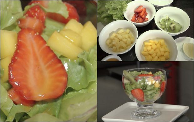 Salada no copo: uma receita que substitui legumes por frutas tropicais (Foto: Amazônia Rural)