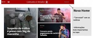 G1 da Inter TV RJ estreia novo layout disponível para qualquer dispositivo (Reprodução/ TV Asa Branca)