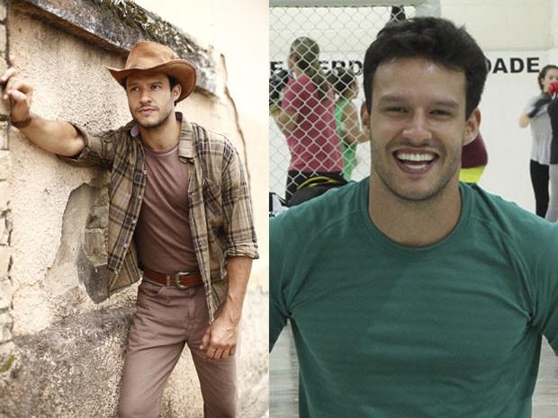 Fernando Rodrigues na novela Em Família e agora como Ricardo em Alto Astral (Foto: Em Família/Maria Clara Lima/Gshow)
