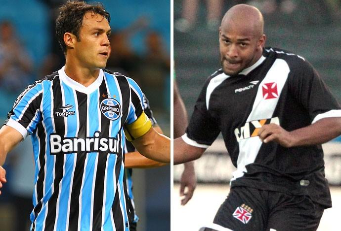 Montagem Kleber Grêmio e Fellipe Bastos Vasco (Foto: Editoria de arte)