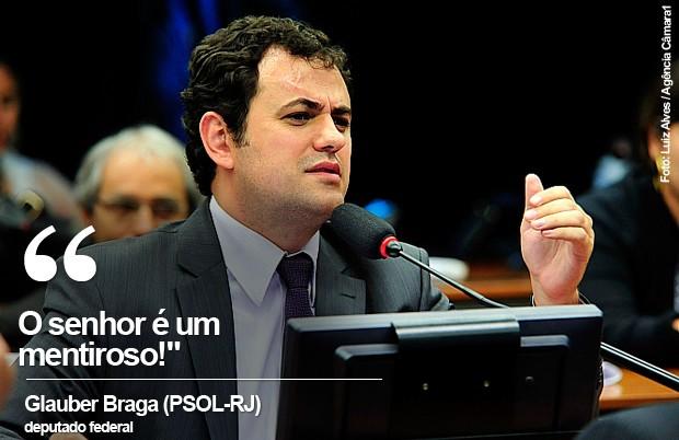 Card do deputado Glauber Braga (Foto: Luiz Alves / Agência Câmara)